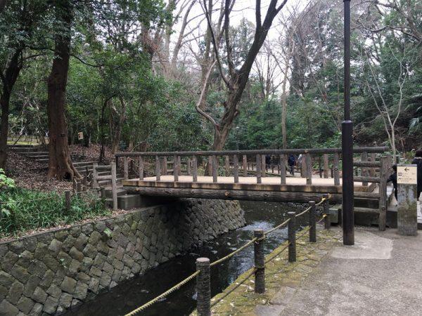 等々力渓谷に掛かる橋