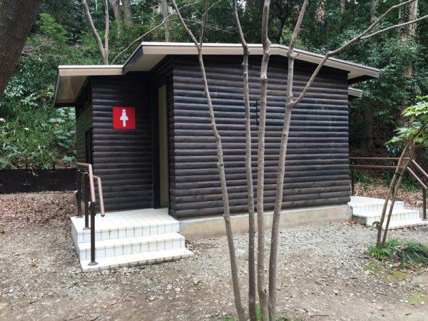 等々力渓谷には公衆トイレ完備
