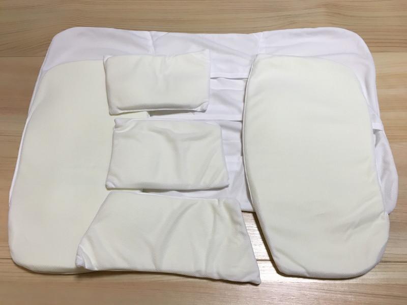 ニトリの枕(高さが10ヵ所調整できる枕)の部位別調整シート