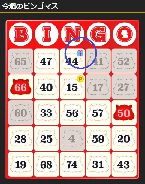 モッピーカジノ ビンゴゲームでアイテムマスを狙う