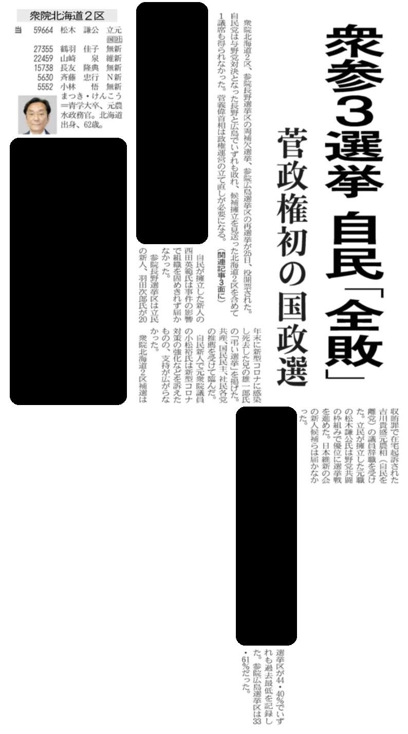 楽天証券アプリでの日経新聞を無料閲覧イメージ(紙面)