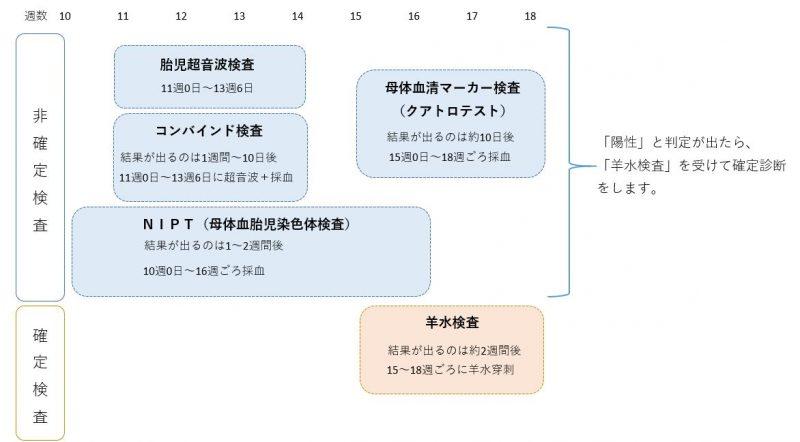 出生前診断の検査を受けられる時期と流れ