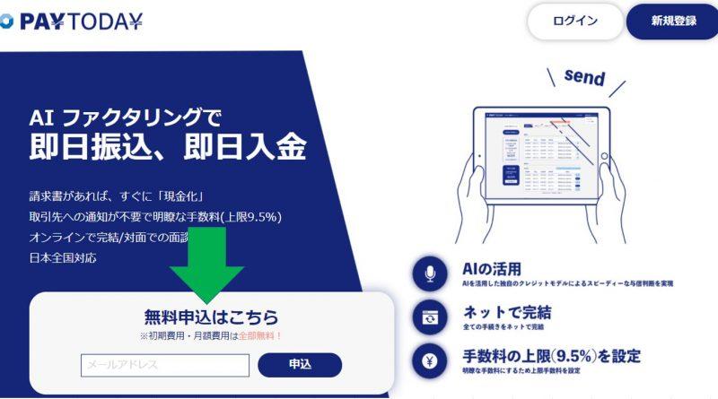 PayTodayの請求書買取サービスの利用の流れ