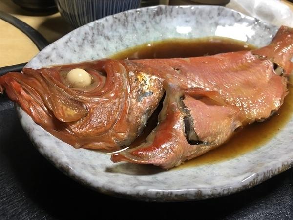 藤沢の海鮮まんぼうまるの金目鯛の煮つけ
